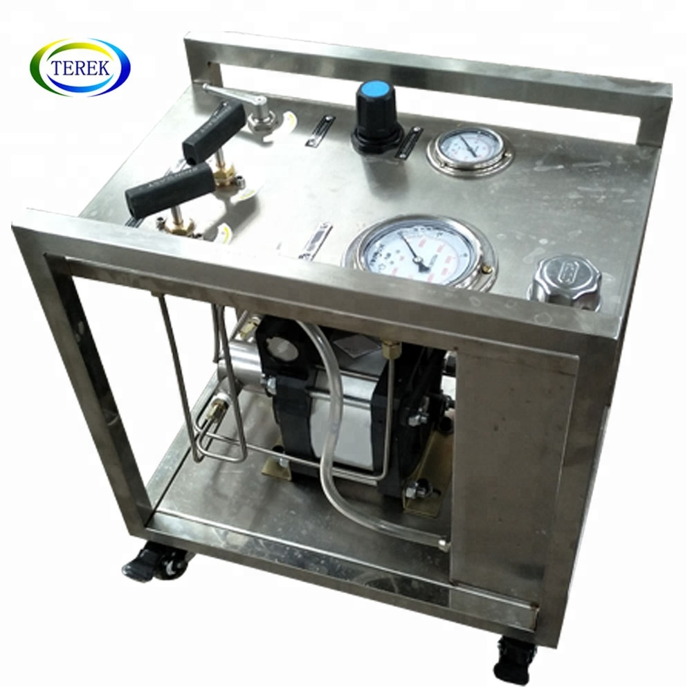 High capacity pneumatic self priming pump for High pressure fluid injection