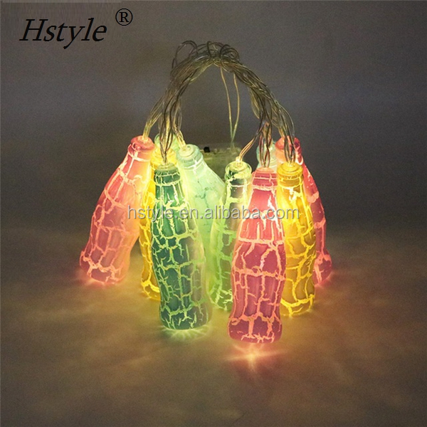 Fashion Holiday Lighting 10 LED Novelty Beer Bottle String Lights Wedding Garden Party Valentine's Day Decoration HNL391