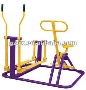 Air walker e máquina combinada de equitação ao ar livre gym fitness equipment