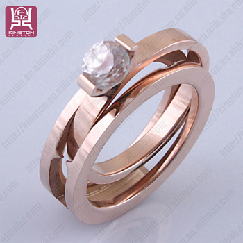 Whole Alibaba Two In One Greek Style Wedding Rings