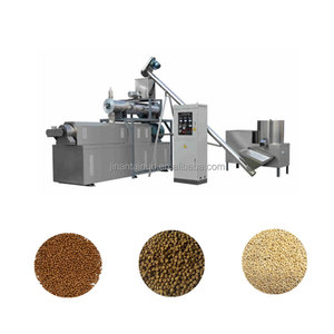 Good quality screwextrusion big capacity floating fish feed processing equipment