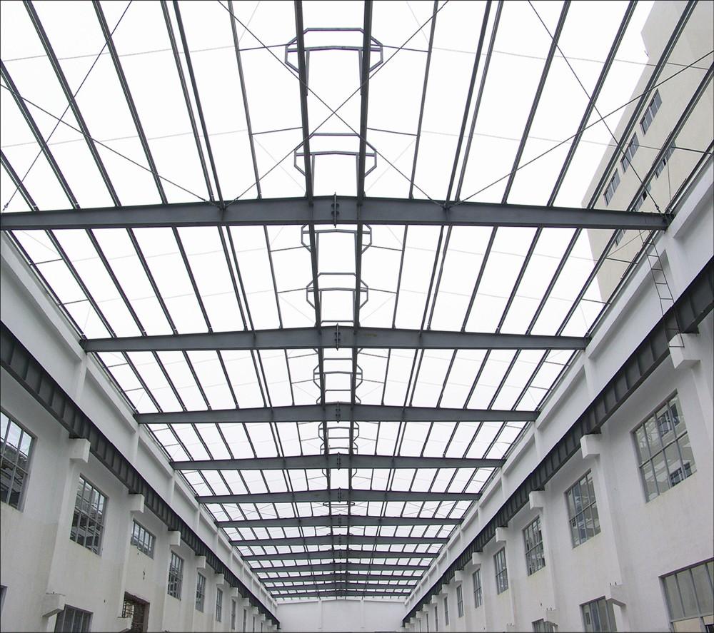 Prefab Steel Frame Skylight Roof Ad008 - Buy Space Frame,Steel Space ...