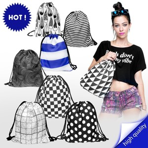 promotional polyester black and white aztec design backpack