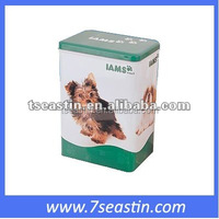 tin box pet food container/biscuit tin can