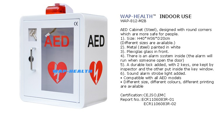 Merveilleux WAPu0027R Metal Wall Mount AED Cabinet With Alarm And Strobe Light