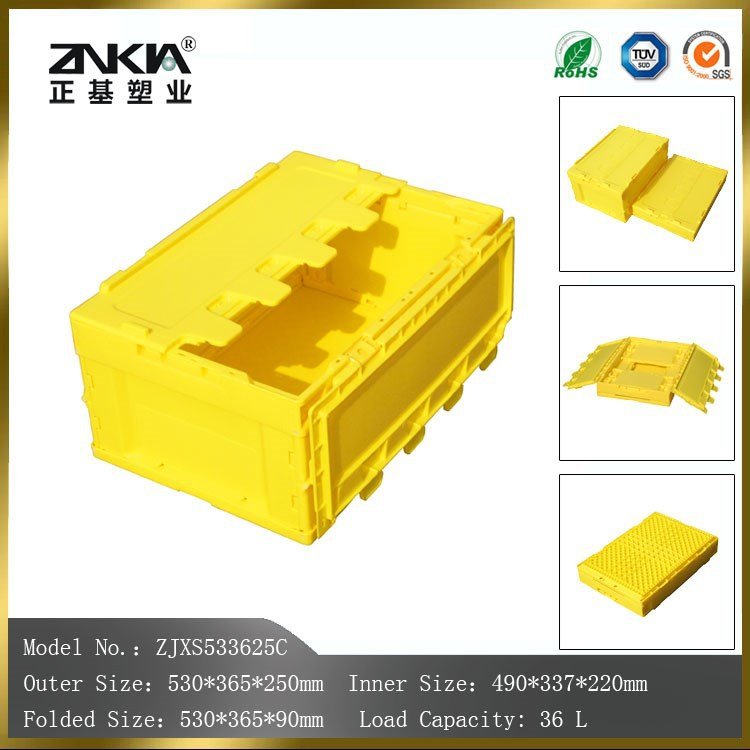 light duty storage use yellow colour plastic containers & boxes wholesale direct from factory