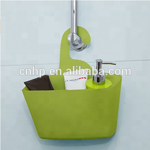 Wall Shower Caddy Plastic Basket with Hanger for College,Camp,Dorm,Vacation,Trip,School Aqua Blue