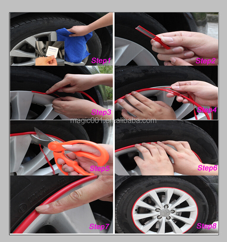 Easy Install Alloy Wheel Protector,Auto Wheels Ring/lip Accessories ...