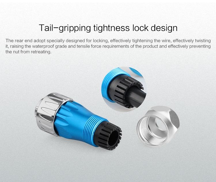Cnlinko 4Pin Welding Cable Connector Waterproof Outdoor Socket for Medical Equipment