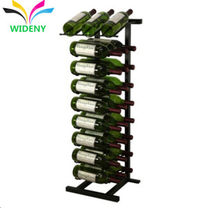 Ladder style 4 holders black one line liquor display bottle cheap wine racks