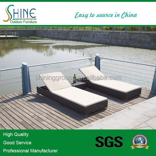 Cheap pool furniture outdoor rattan chaise lounge SOF4001/ folding Sun Loungers