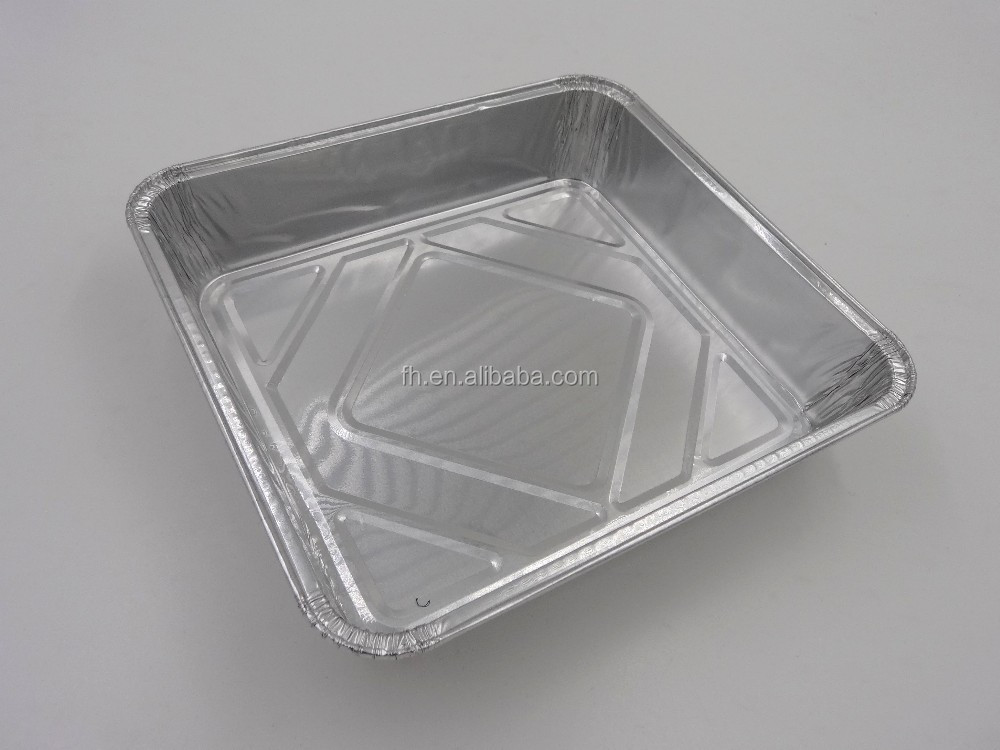 Feuille d 39 aluminium carr pan jetable moule pizza - Plat aluminium jetable ...