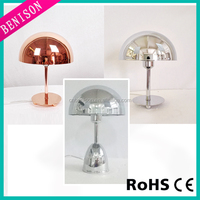 2016 wholesale Modern led Table Lamp electroplating copper / chrome plating metal Desk Lamp Reading Writing Table Light item