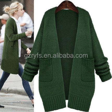 2017 New Design Girl Sweater Long Cardigan for Woman Autumn Ladies Casual Coat