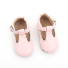 leather baby shoe beauty girls rubber t-bar mary jane shoes kids shoes factory