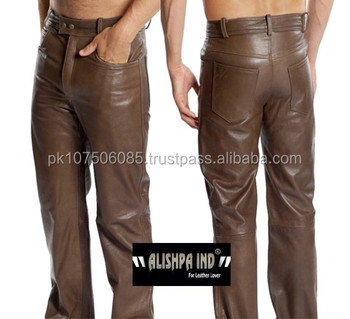 German Men Leather Trouser Men Leather Jeans New Leather Trouser