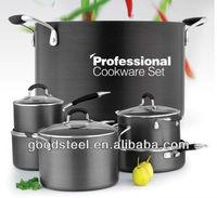 Professional hard anodized aluminium non-stick cookware set