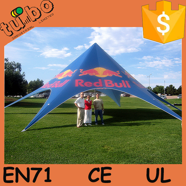 hot sale custom size red bull star tent/ spider tent/beachTent for events tent