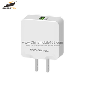 Single USB3.0 wall charger with EU or US 12v wall charger connector for multiple phones