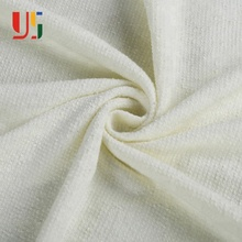 White polyester plain dyed cotton baby french terry knitting fabric for sportswear