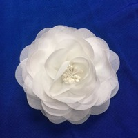 Wholesale Camellia Flower For Hat Decoration Fabric Flowers For Clothing Brooch Flower