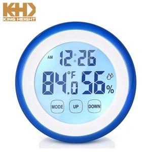 KH-CL039 KING HEIGHT Bedroom Touch Screen Thermometer Hygrometer Sensor  Alarm Digital Desk Clocks