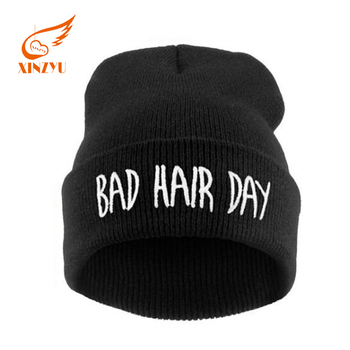 Soft Fleece Sports Black Beanie Hats Good Quality Embroidered Knitted Hat  for Women Men 081ffbe732