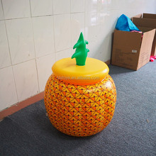 pvc inflatable pineapple shape beer cooler inflatable ice bucket