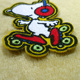 Chinese Design Custom Cartoon Snoopy Embroidered Patches Embroidery Patch