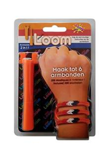 World Toys Mini Loom Starter Kit Orange Version+5 Packs Refill Rubber Bands,200pcs Rubber Bands/Pack, 4 Colors, Orange Rubber Bands 155pcs,Red Rubber Bands 15pcs,Blue Rubber Bands 15pcs,White Rubber Bands 15pcs Each Bag,Total 1200 pcs Rubber Bands