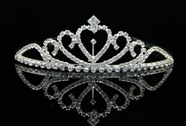 2016 wholesale cheap beauty girl cute rhinestone wedding princess crown tiara