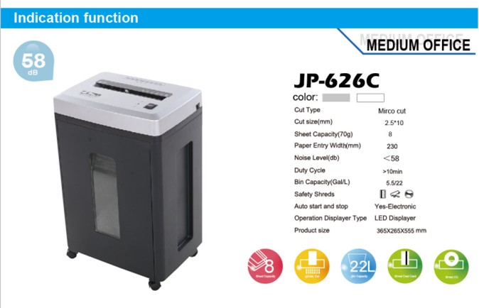 Jinpex Jp 626c Office Use Electronic Paper Shredder