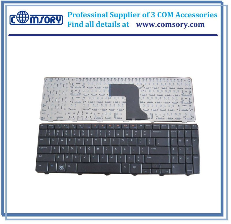 HQRP Arabic Laminated Transparent Keyboard Stickers with Yellow Lettering for PC Desktop Laptop Netbook Notebook...
