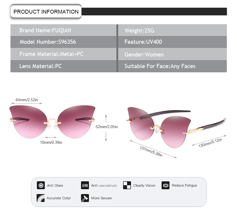 Fuqian Custom female designer sunglasses factory for racing-7