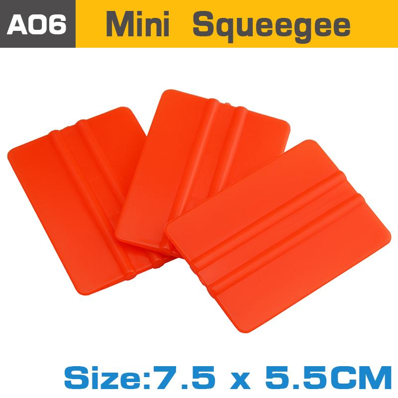 Оранжевый мини-размер ракель с размером 7.5 * 5.5 см виниловая пленка упаковка инструменты дешевой сгон скребок инструмента