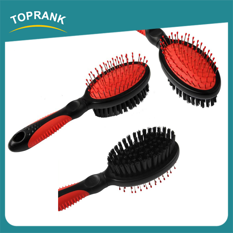 High quality pet grooming tools plastic self cleaning pet brush