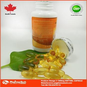 Gmp certificate halal fish oil omega 3 tg 1200mg soft gel for Halal fish oil