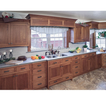 Lower Price Pecan Wood Cabinets Designed For European Style Kitchens