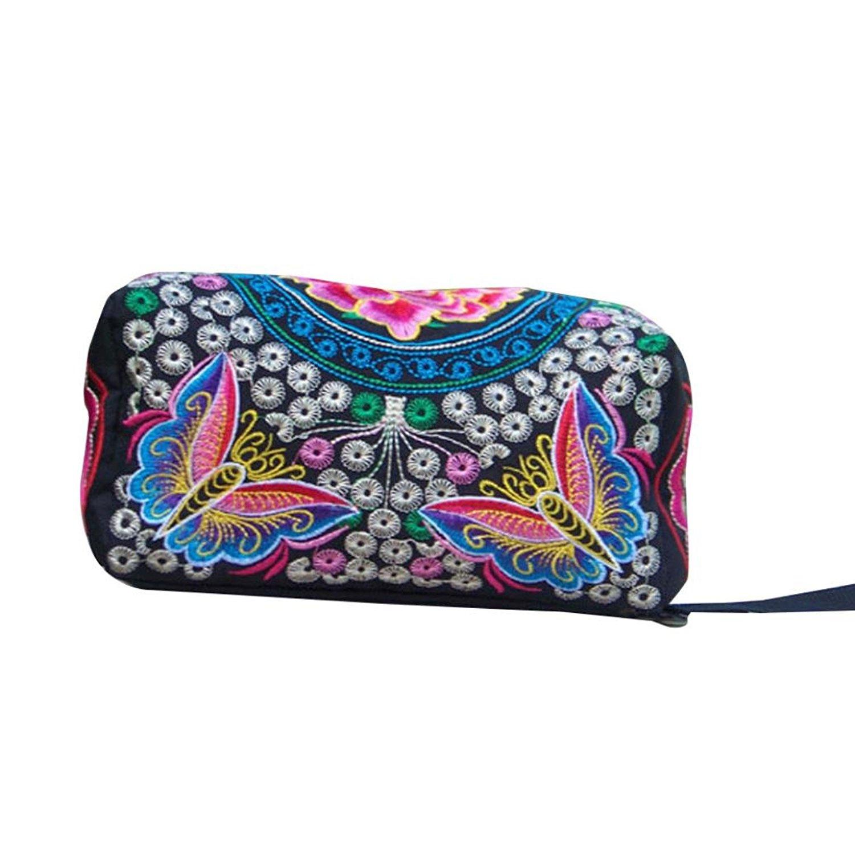 2997fe70697 Get Quotations · Women RFID Blocking Multi Card Organizer Wallet for women  Purse Ethnic Handmade Embroidered Wristlet Clutch Bag
