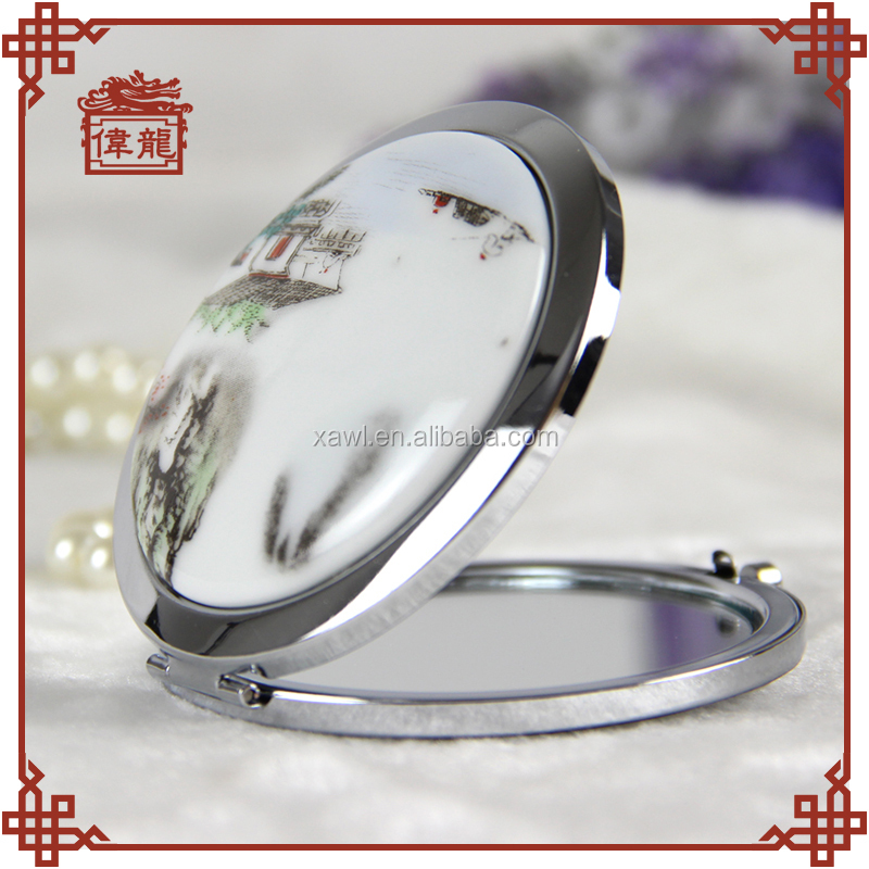 Wholesale personalized pocket compact makeup comestic mirror TCJ105