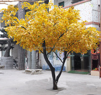 artificial ginkgo tree, home artificial bonsai tree, artificial bonsai for hotel decoration