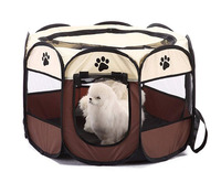 Portable Foldable Indoor/Outdoor, Dog/Cat/Puppy Exercise pen Kennel, Removable Mesh Shade Cover, dog pop up