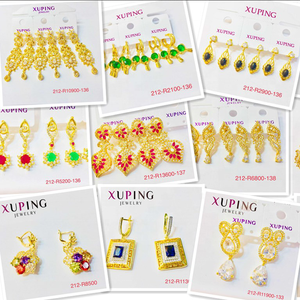 212-E xuping 24k gold color earring drop Earring women jewelry