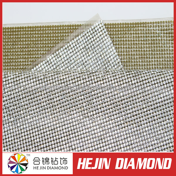 Best popular 2mm Silver and gold Plated Aluminum Mental base Strass DMC Rhinestone Sheet