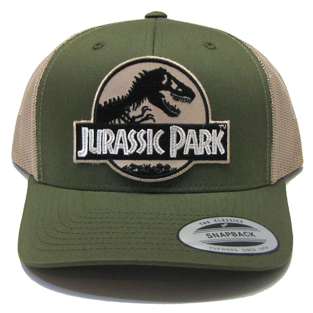 Jurassic Park Movie Desert Camo Patch Trucker Moss Khaki Cap Hat by Project  T 1ca6f10bc211