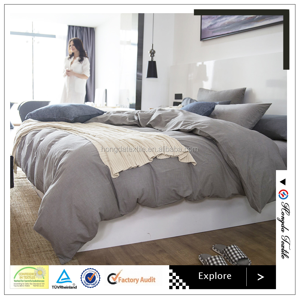 100% natural linen/flax bedding set,Single Duvet cover and 2 pillow cases