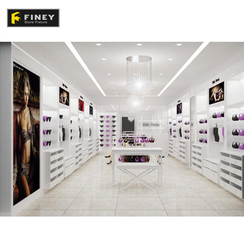 Fashion Underwear Shop Decoration Design Women Clothing Boutique