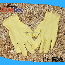 Top Glove Cheap Disposable Yellow Waterproof Medical Elastic Latex Gloves Price