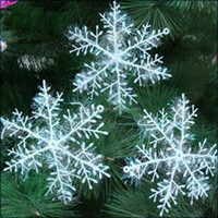 European style Wholesale Snow flower christmas tree decorations for home party
