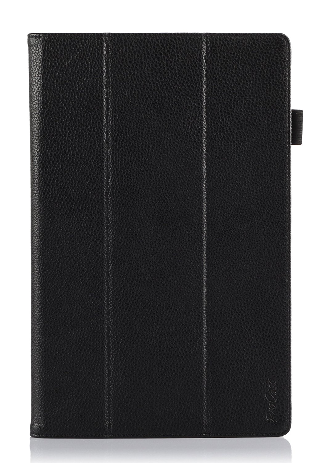 ProCase Microsoft Surface 2 Case - Tri-Fold Leather Case Cover for Microsoft Surface 2 and Surface RT Tablet (NOT for Surface Pro Tablet), built-in stand, elastic hand strap, and stylus loop (Black)